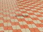 Формы для тротуарной плитки Клевер с кругами гладкий 4, 5 см - foto 0