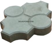 Формы для тротуарной плитки Клевер с кругами гладкий 4, 5 см - foto 2