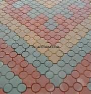 Формы для тротуарной плитки Клевер с кругами гладкий 4, 5 см - foto 4